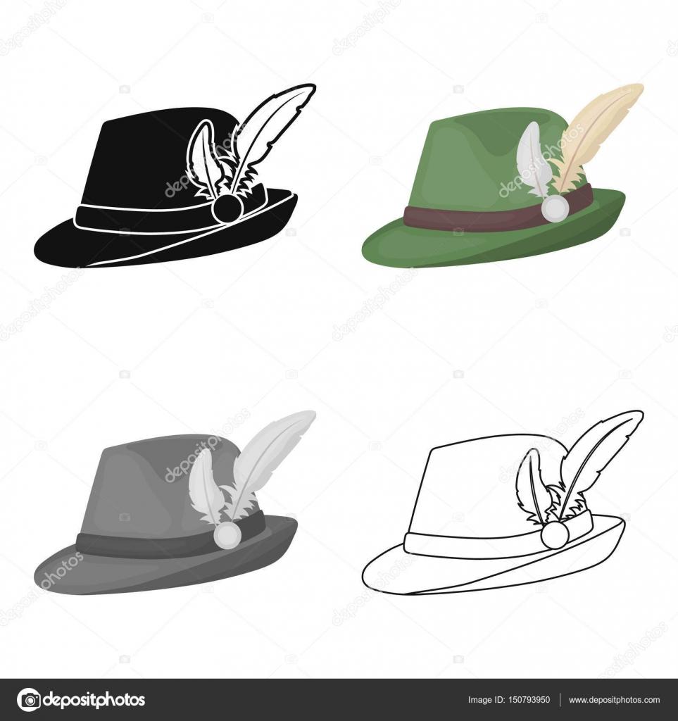ce308f8e2fa39 Ícone de chapéu tirolês no estilo cartoon