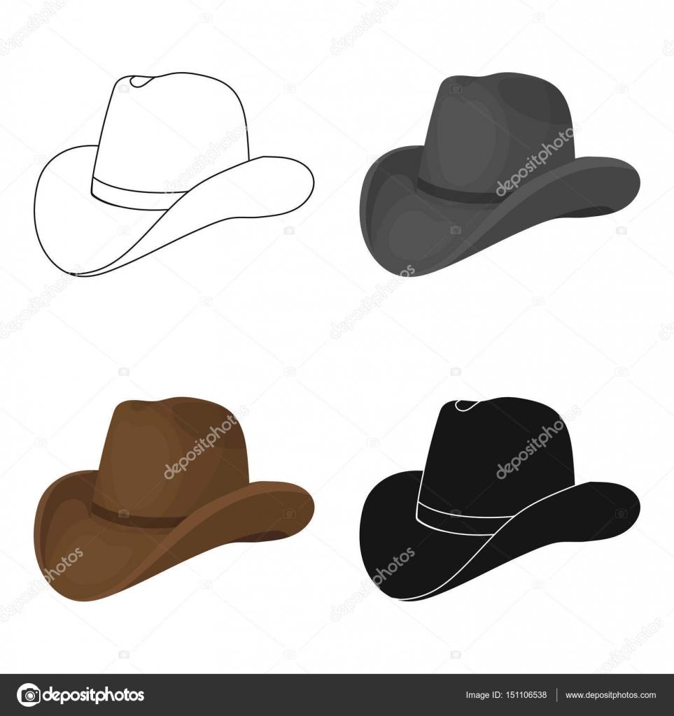 548c9d7fcabe7 Icono del sombrero de vaquero en el diseño de dibujos animados aislado  sobre fondo blanco. Ilustración de vector stock rodeo símbolo — Vector de  ...