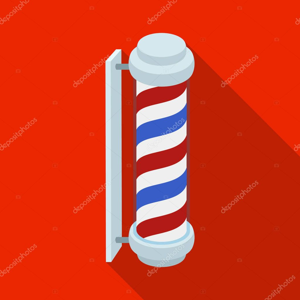 Barber logo.Barbershop single icon in flat style vector symbol stock illustration web.