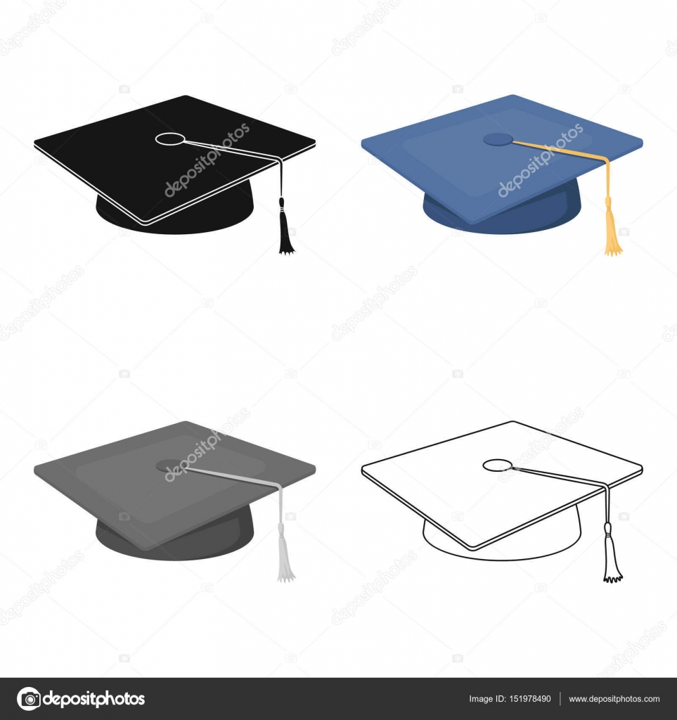Blue beret with a rope in the center cap student school uniform blue beret with a rope in the center cap student school uniform hool and education single icon in cartoon style vector symbol stock web illustration biocorpaavc
