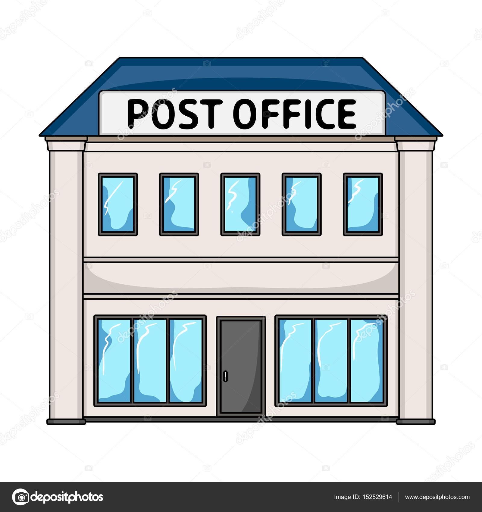 Bureau De Poste Poste Et Facteur Unique Icône Dans Cartoon Style