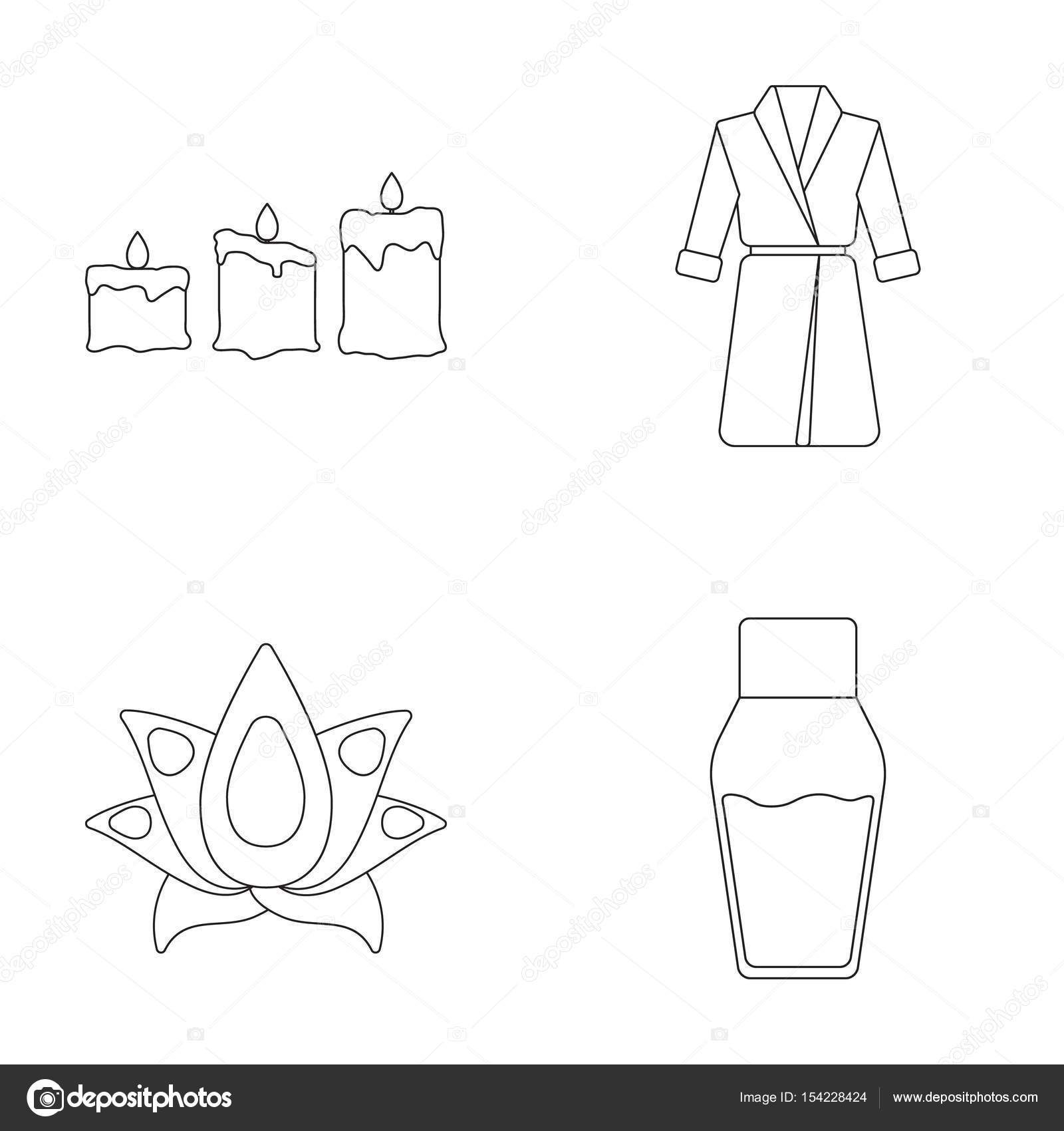 Multicolored Candles With A Flame A Blue Robe With A Belt A Lotus