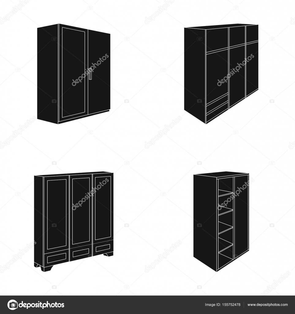 Zwarte Kledingkast Met Spiegel.Kledingkast Met Spiegel Kast Rekken Met Mezzanines Meubilair Van