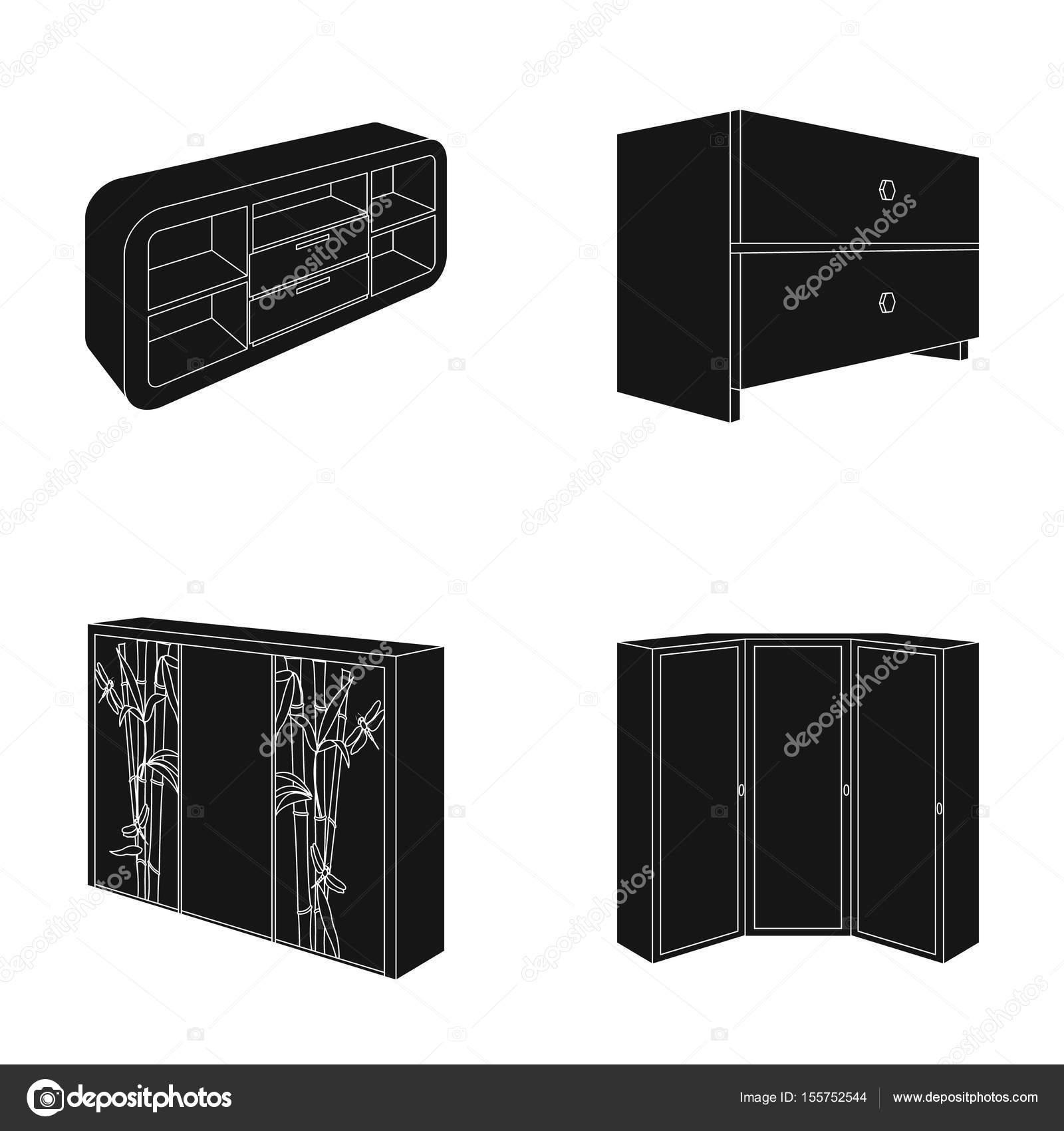 Pecho De Cajones Armario Con Espejo Pecho Blanco Armario De  # La Esquina Muebles