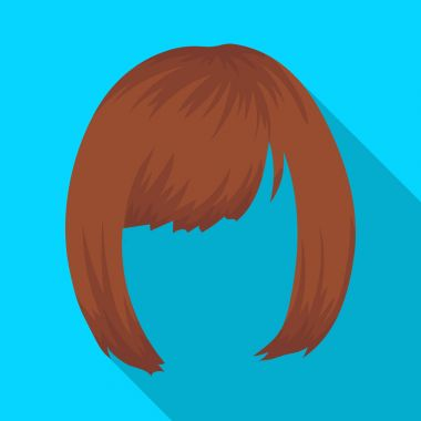 Square.Back hairstyle single icon in flat style vector symbol stock illustration web.