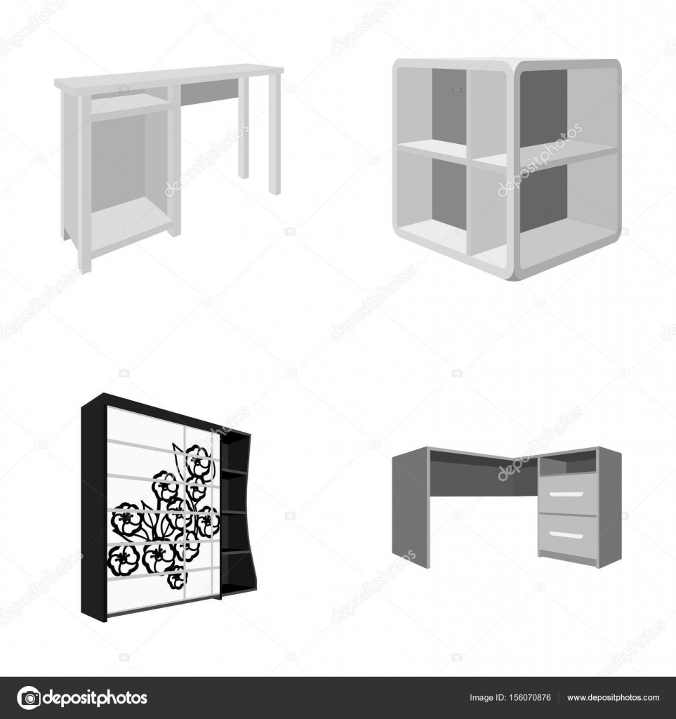 Dressing Table, Corner Shelves, Computer Desk, Wardrobe With Glass. Bedroom  Furniture Set