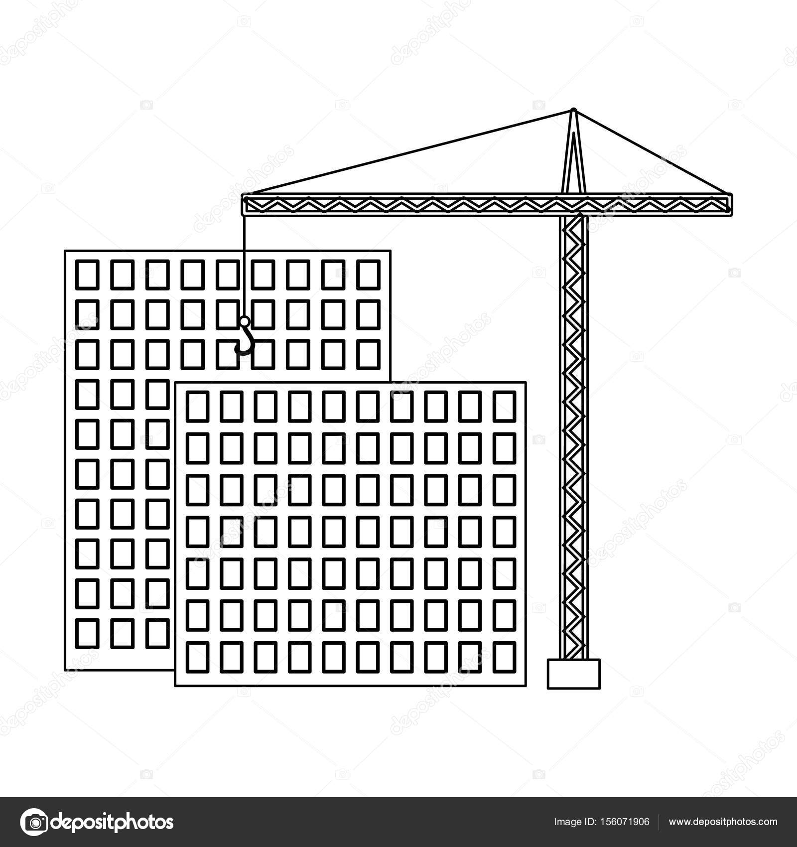 Construction Of Houses Real Estatealtor Single Icon In Outline