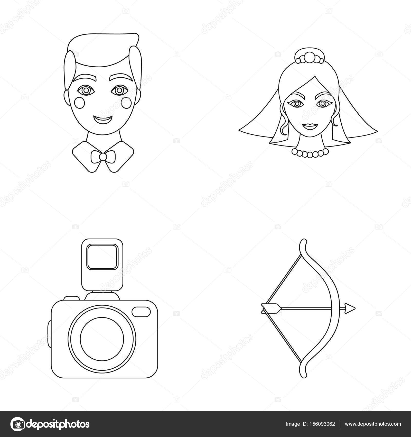 Groom Bride Photographing Arrow Of The Cupid Wedding Set