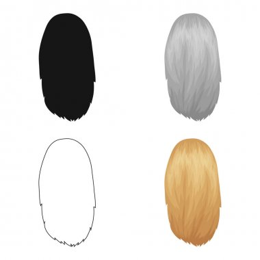 White dissolved.Back hairstyle single icon in cartoon style vector symbol stock illustration web.
