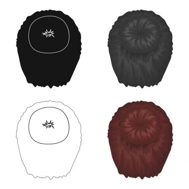 Dark short.Back hairstyle single icon in cartoon style vector symbol stock illustration web.