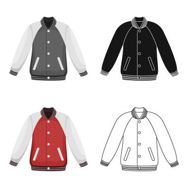 Uniform baseball jacket. Baseball single icon in cartoon style vector symbol stock illustration . stock vector