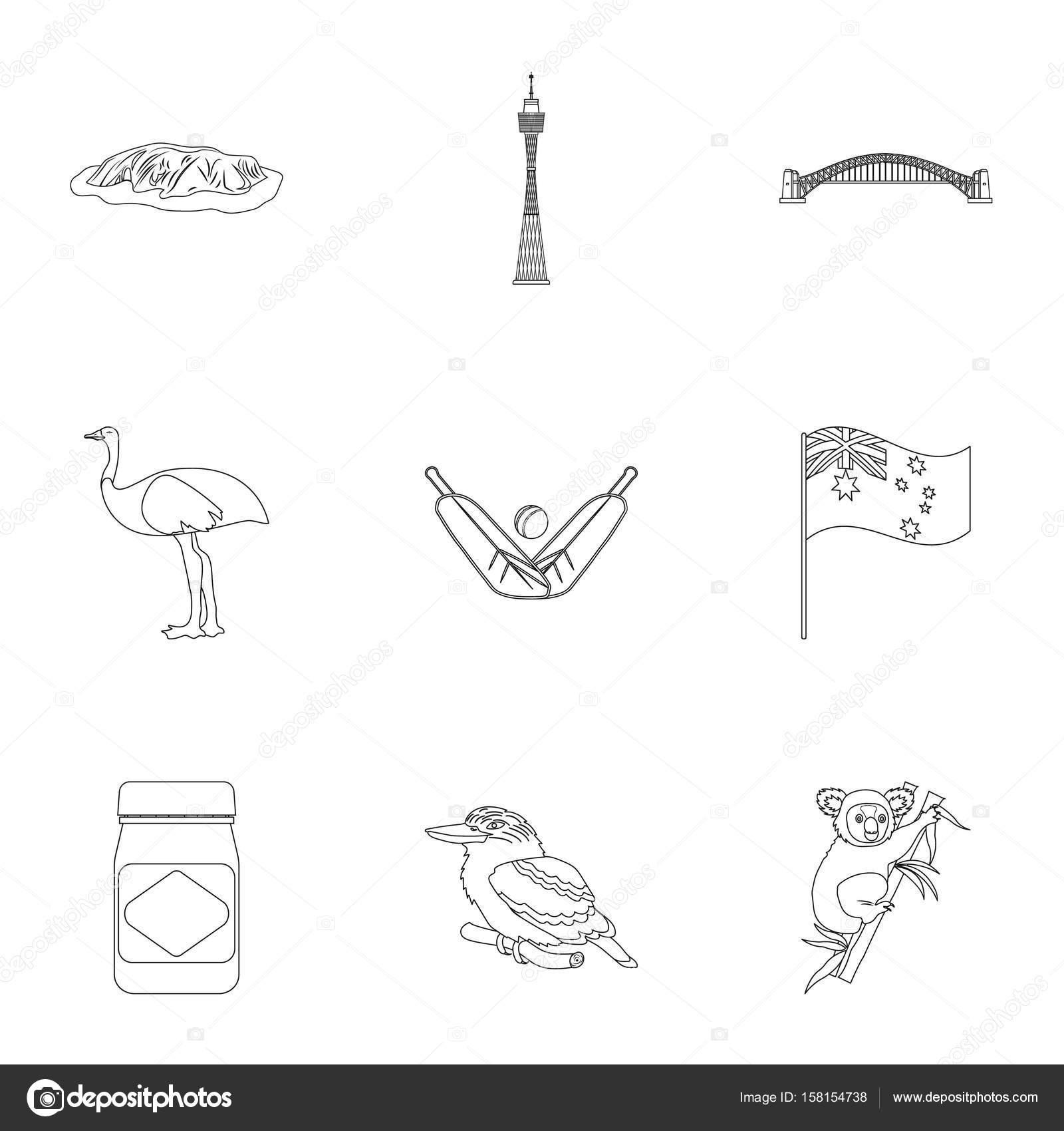 National symbols of australia web icon on australia themestralia national symbols of australia web icon on australia themestralia icon in set collection ccuart Choice Image