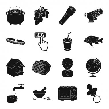 toy, magic, weapons and other web icon in black style.plumbing, hygiene, equipment