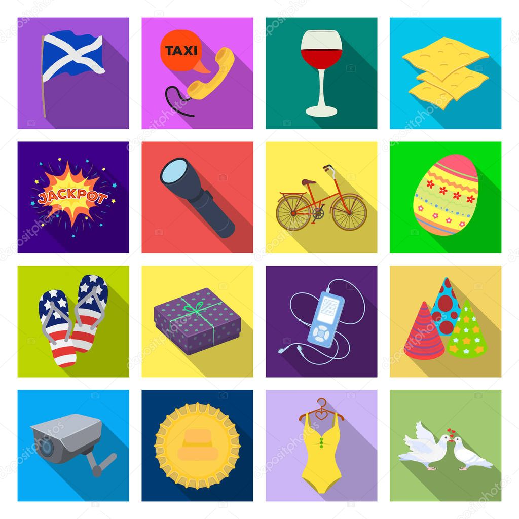 restaurant, industry, textiles and other web icon in flat style., wedding, restaurant, industry, icons in set collection.