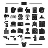 Photo vacation, appliances, domestic and other web icon in black style.hotel, bank, travel, icons in set collection.