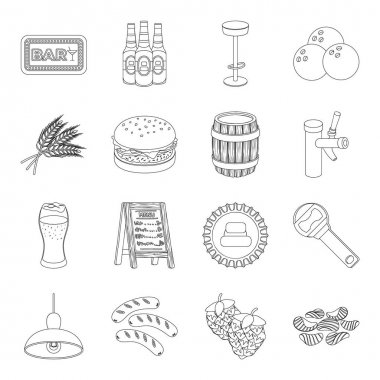 Doctor, worker, military, artist and other types of profession.Profession set collection icons in line style vector symbol stock illustration web.