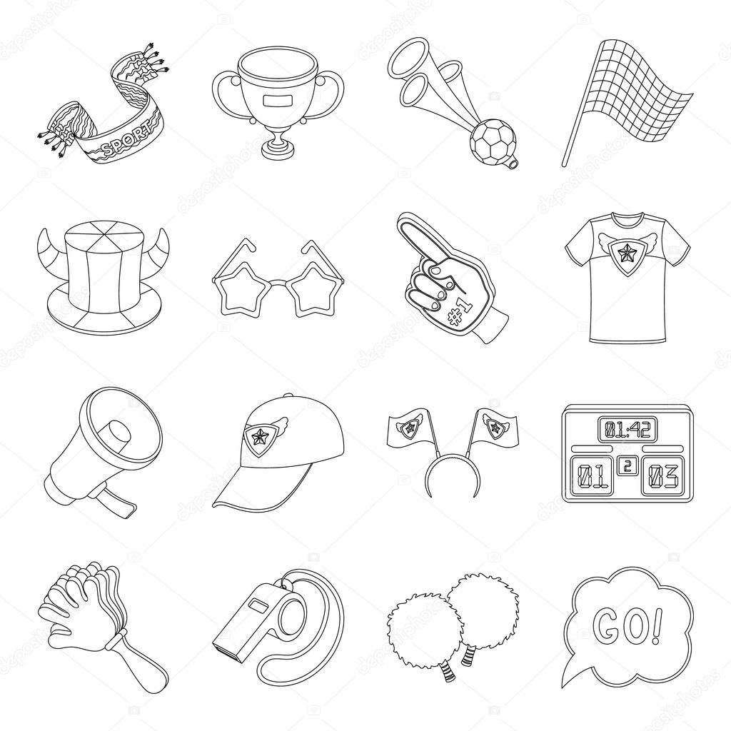 Motorcycle racing, downhill skiing, jumping, parachuting and other sports. Extreme sports set collection icons in line style vector symbol stock illustration web.