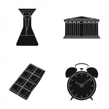 Education, cooking and or web icon in black style.traveling, history icons in set collection.