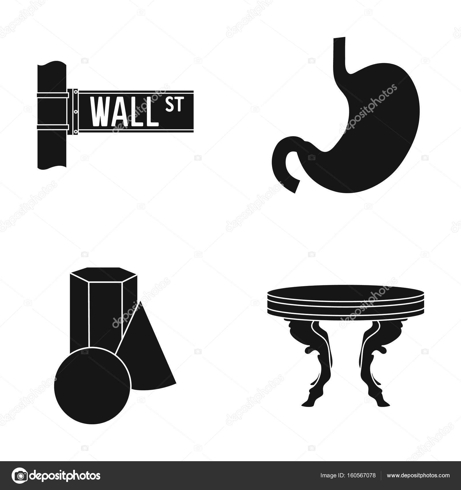 Design Möbel Medizin Und Andere Web Symbol In Der Schwarzen Style