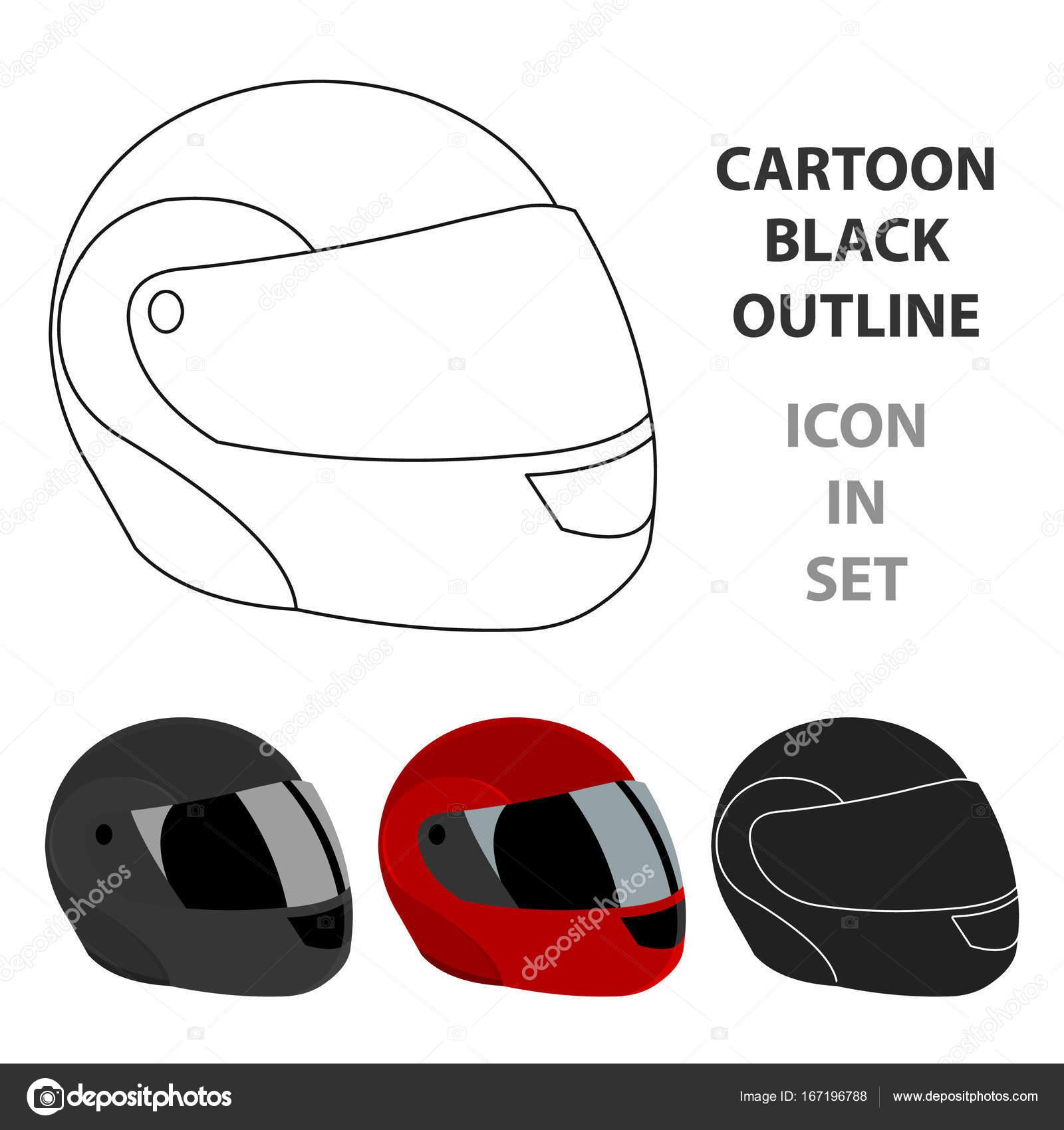Moto casque ic ne dessin anim ic ne du sport seul de la - Dessin casque moto ...