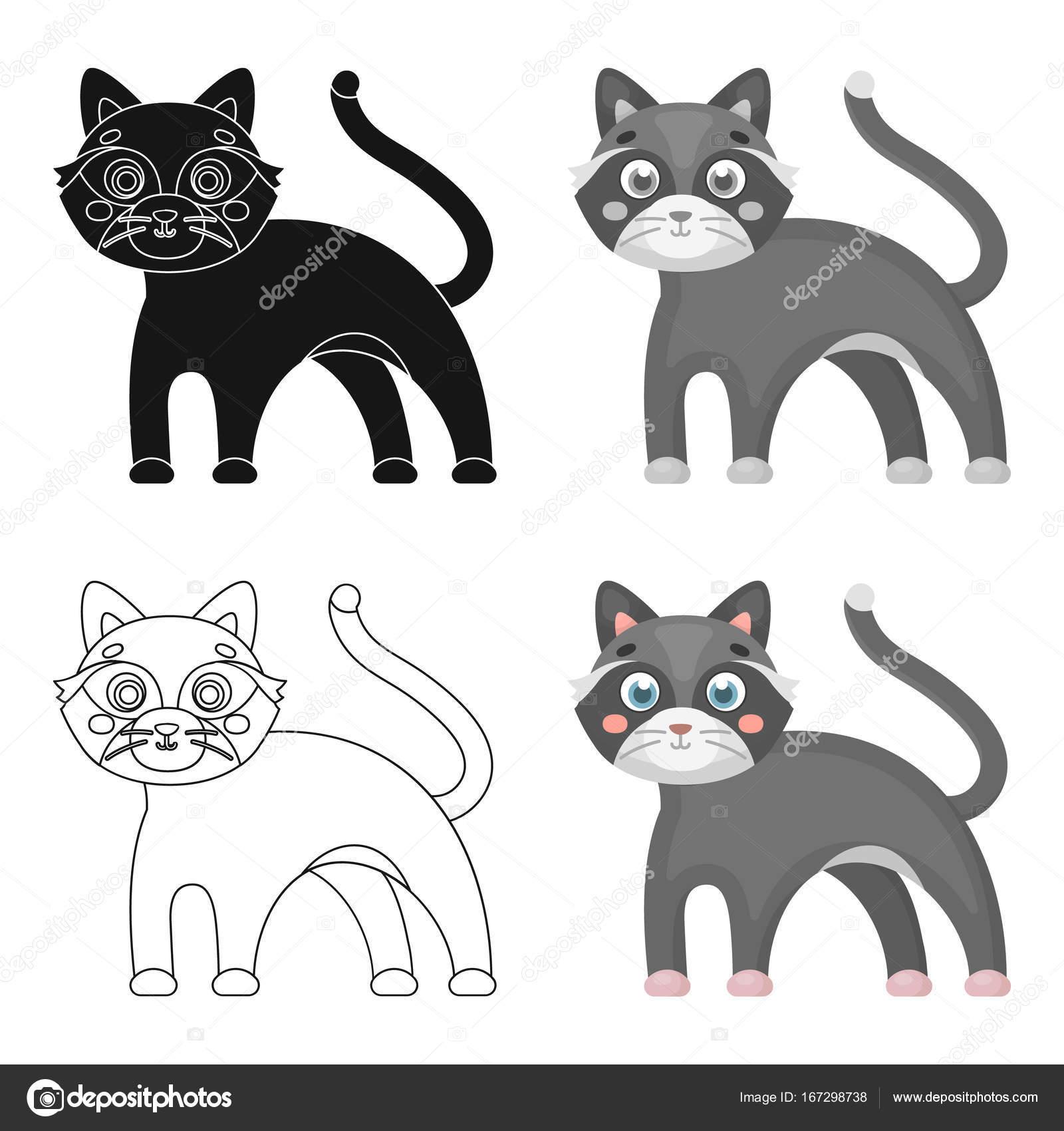 Cat Single Icon In Cartoon Stylet Vector Symbol Stock