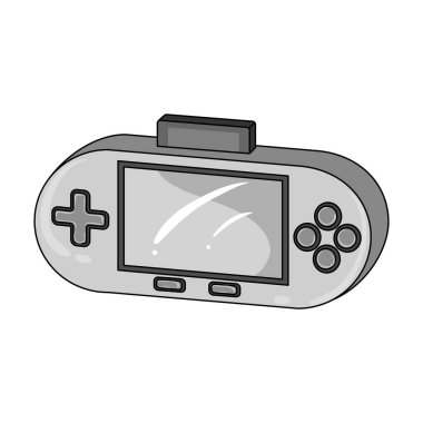 Game console single icon in monochrome style for design.Car maintenance station vector symbol stock web illustration.