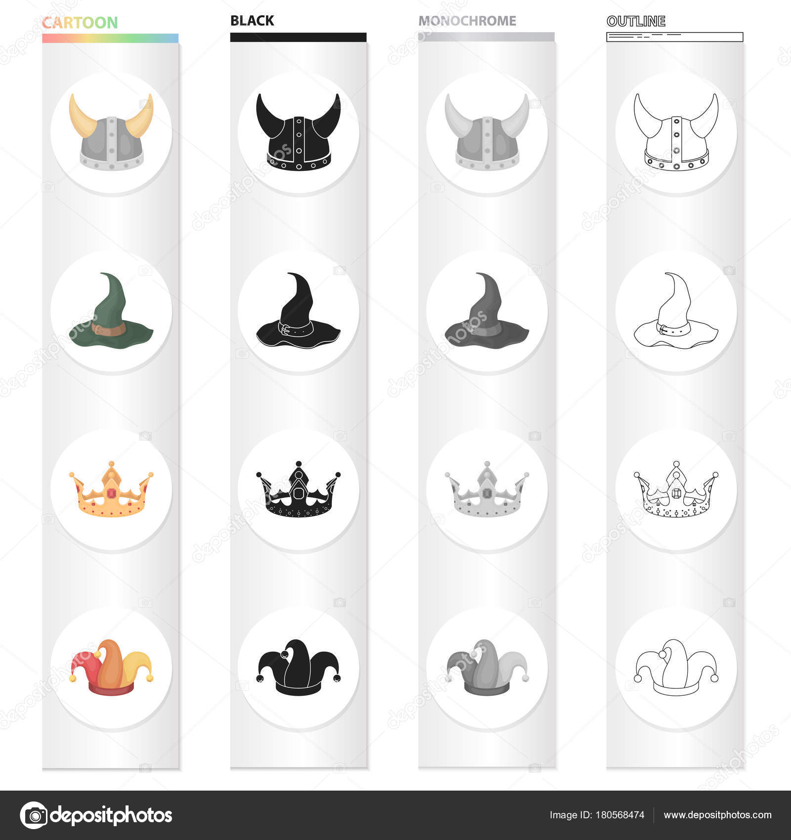 Viking Helmet Wizards Hat Crown Jesters Cap Hats Set Collection Icons In Cartoon Black Monochrome Outline Style Vector Symbol Stock Illustration Web Stock Vector C Pandavector 180568474 Download this premium vector about graduation card with hat and crown, and discover more than 9 million professional graphic resources on freepik. depositphotos