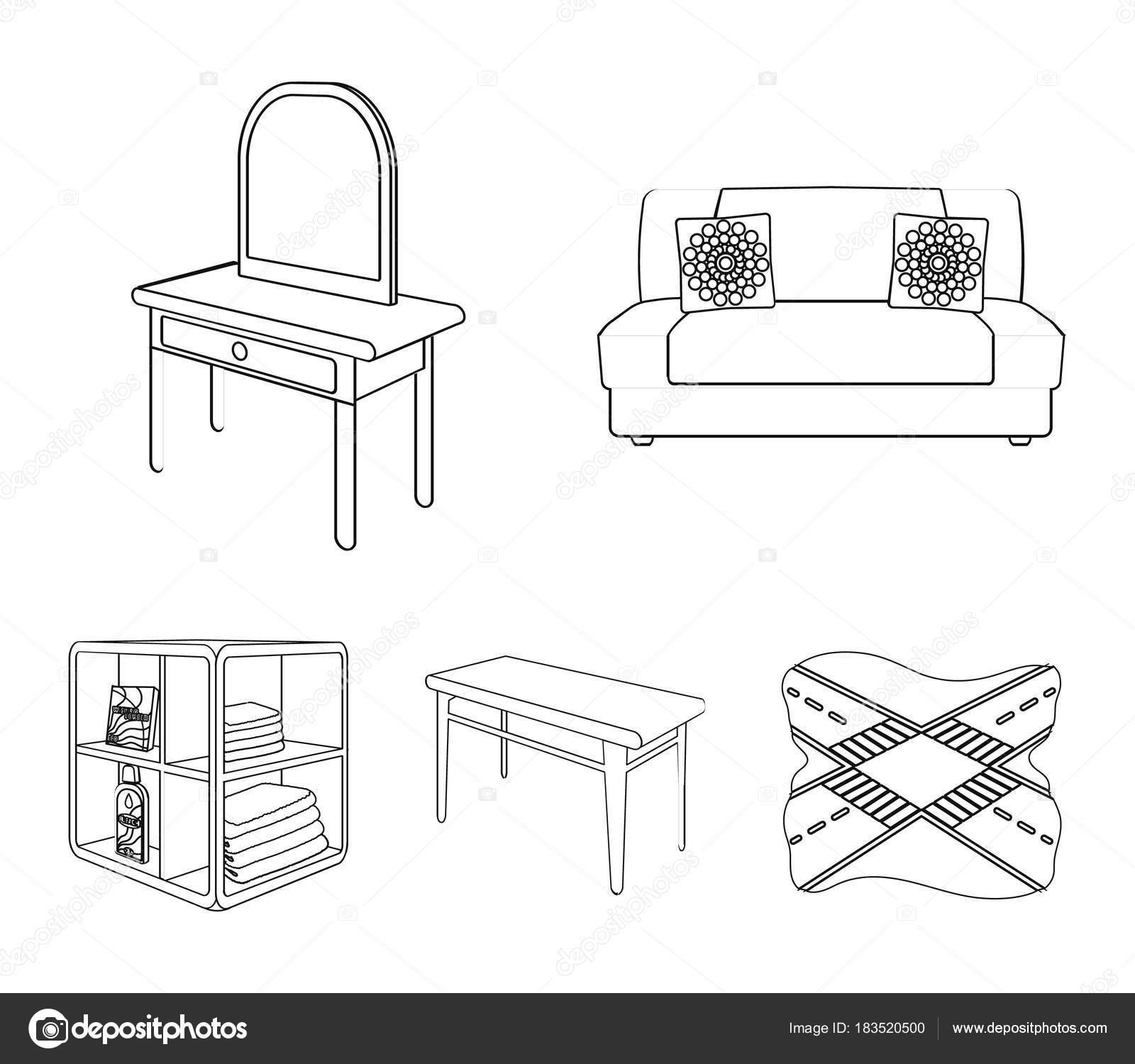 Sofá suave, mesa de maquillaje tocador, mesa de comedor, estanterías ...