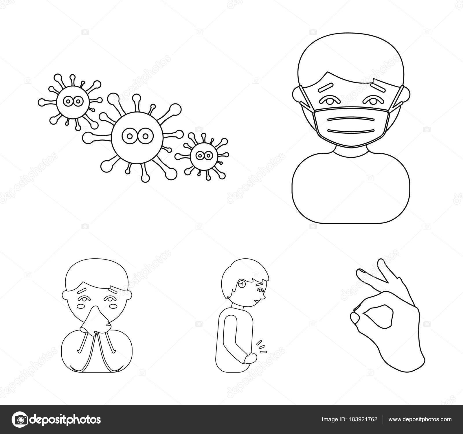 Dolor De Estomago Para Colorear Un Hombre En Una Máscara