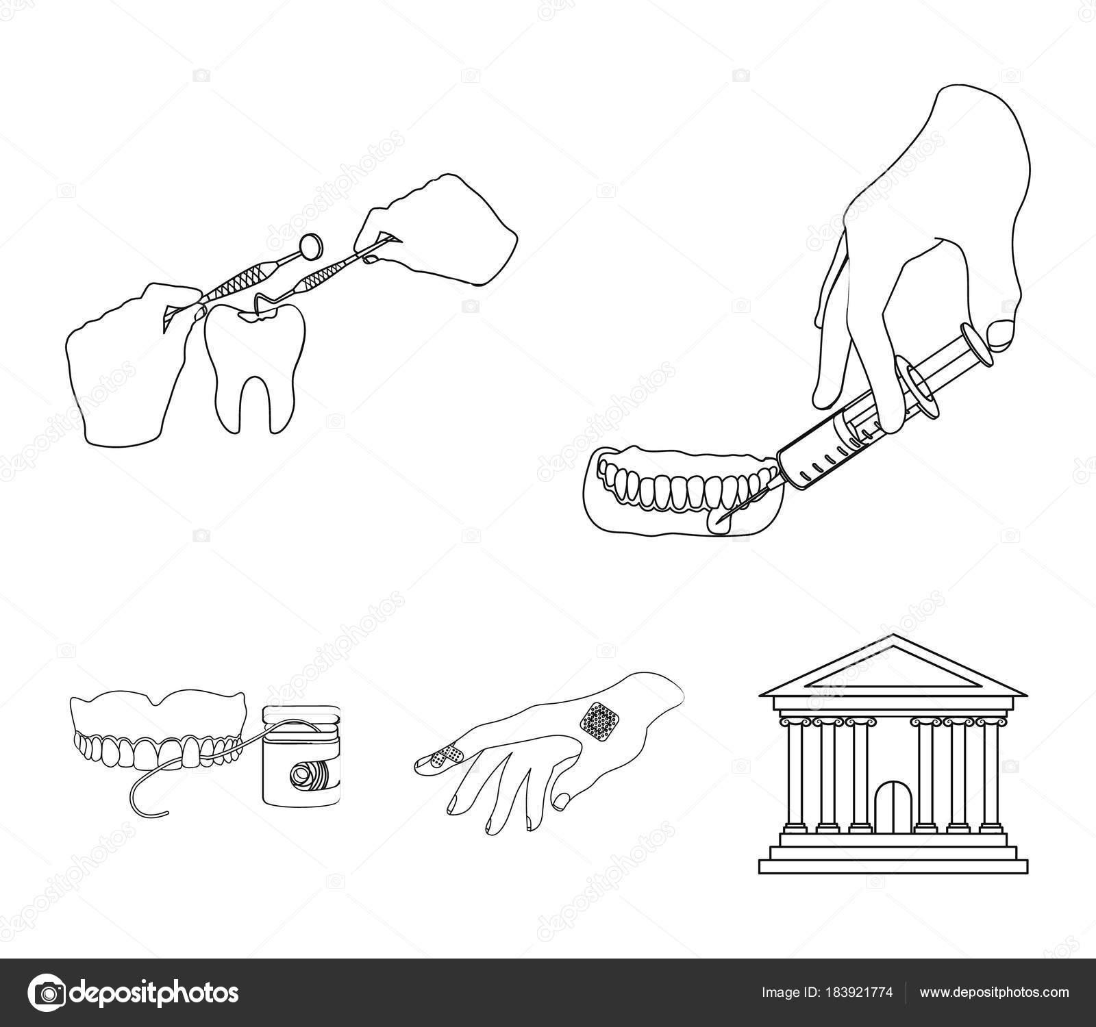 Inyección anestésica, instrumento dental, manipulación de la mano ...