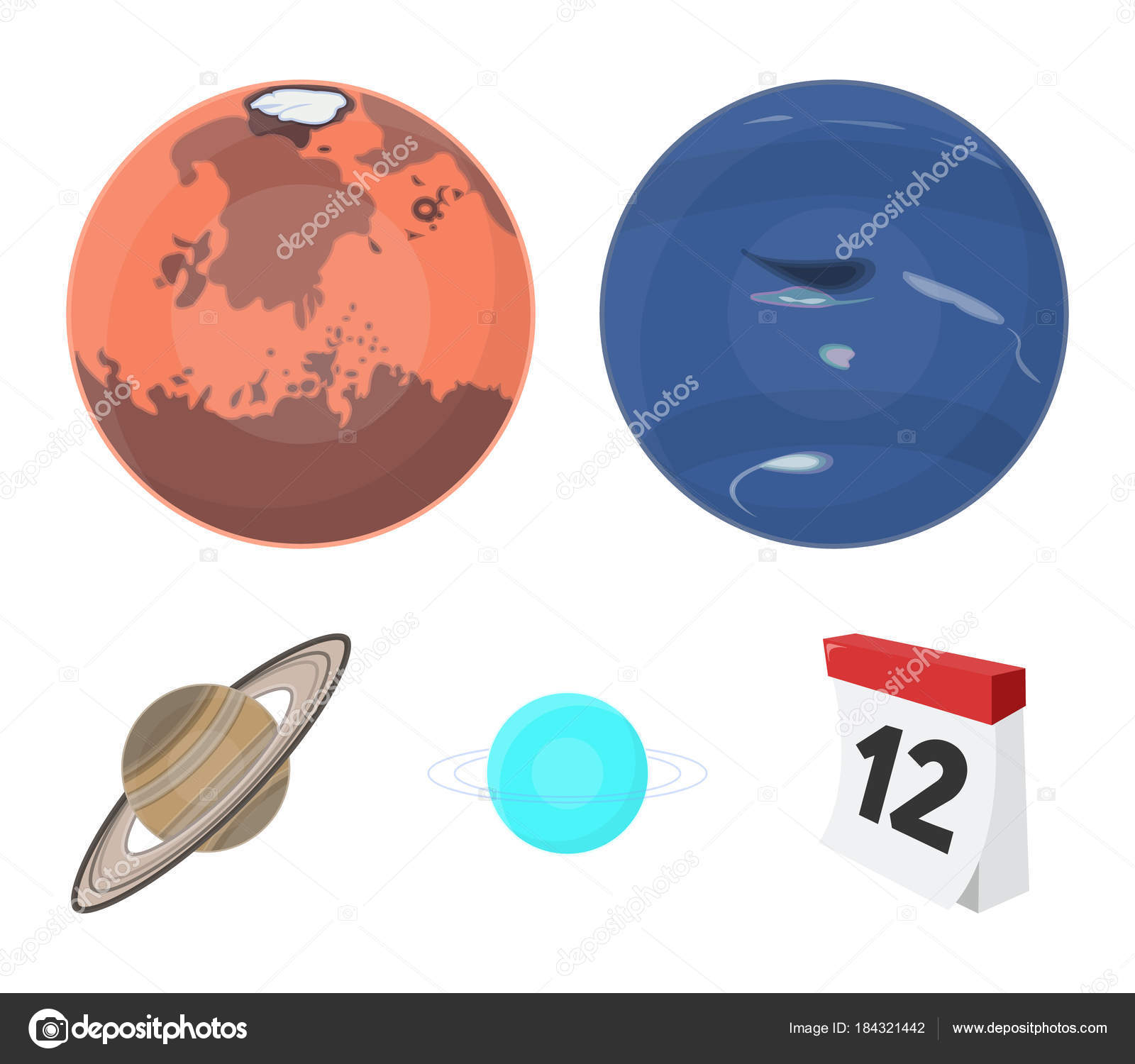 Neptune mars saturn uranus of the solar system planets set neptune mars saturn uranus of the solar system planets set collection icons in cartoon style vector symbol stock illustration vector by pandavector buycottarizona Image collections
