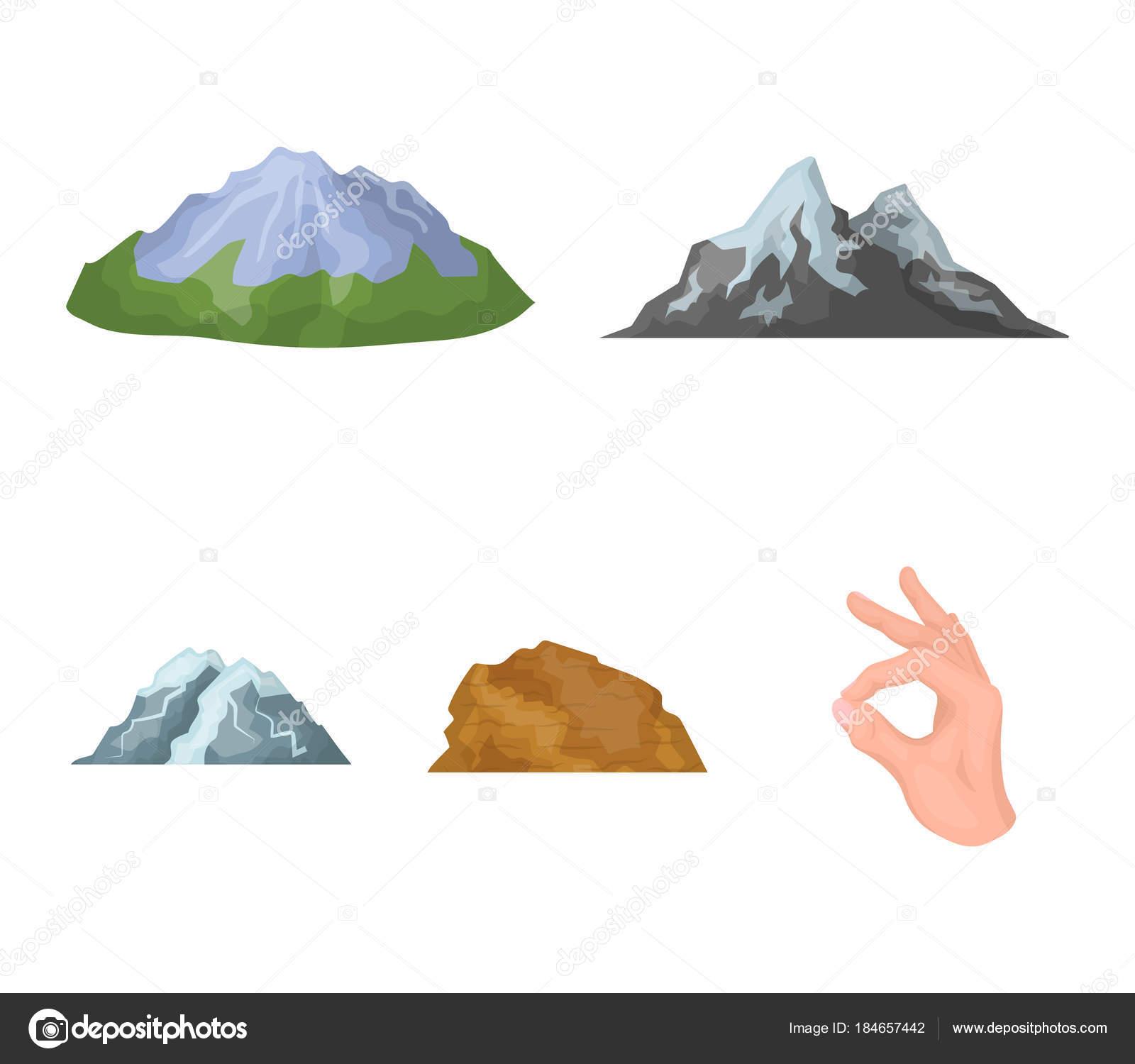 Montagnes Dans Le Desert Un Pic Enneige Une Ile Avec Un Glacier