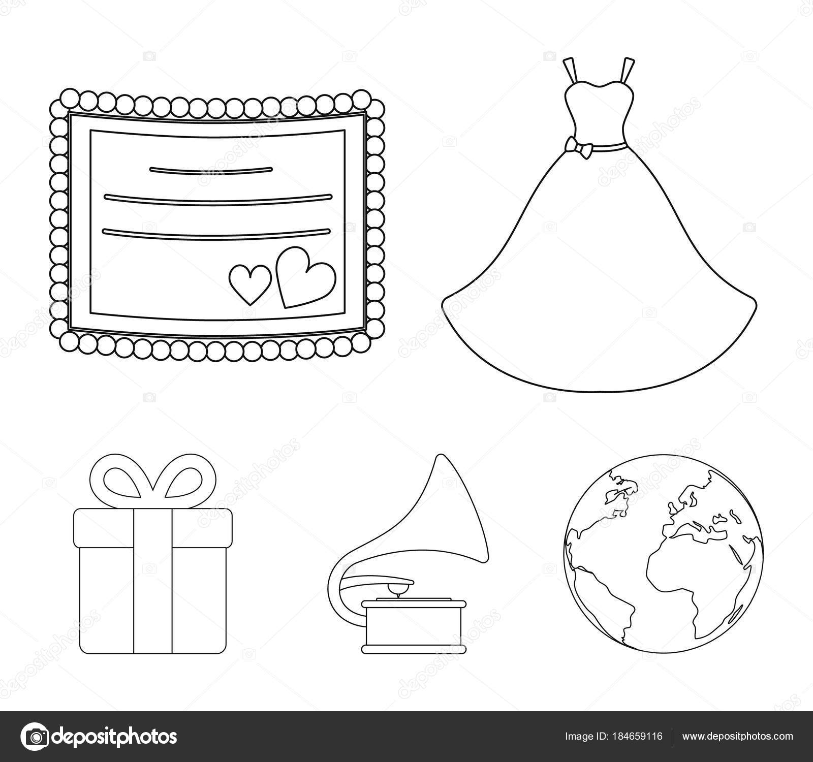 wedding dress invitation gift gramophone wedding set collection
