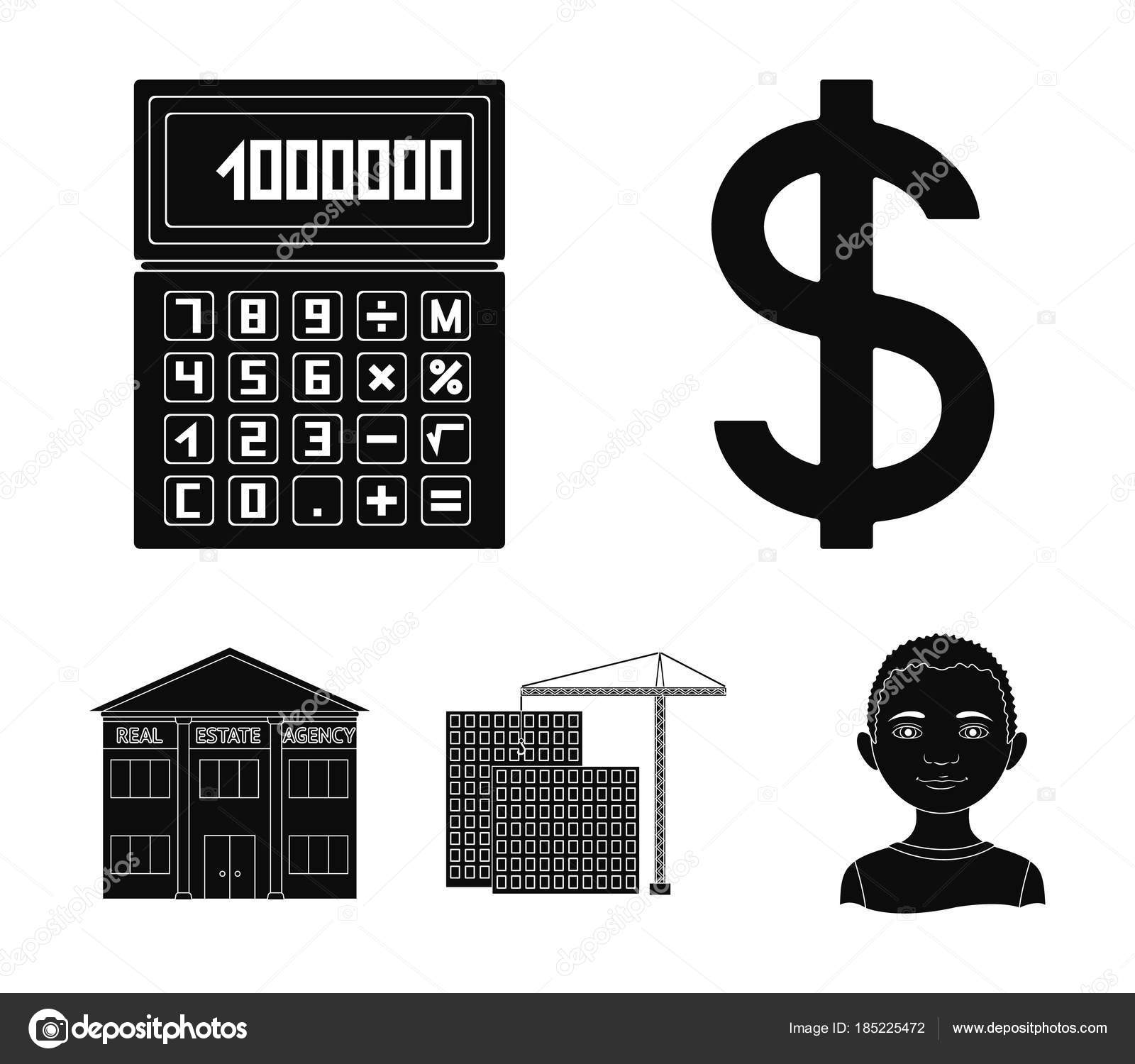 Calculator Dollar Sign New Building Real Estate Offices Realtor