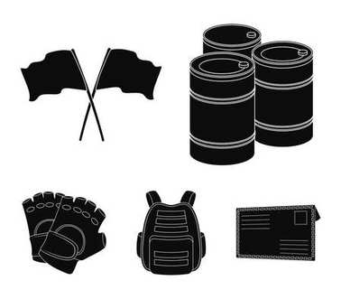 Protective vest, gloves and other equipment. Paintball single icon in black style vector symbol stock illustration web.