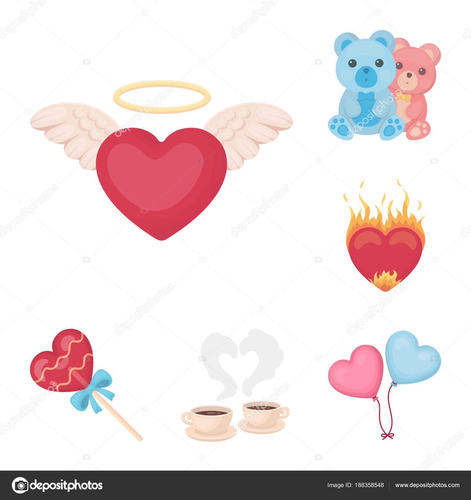 Vectores Iconos De Amor Y Amistad Iconos De Dibujos Animados