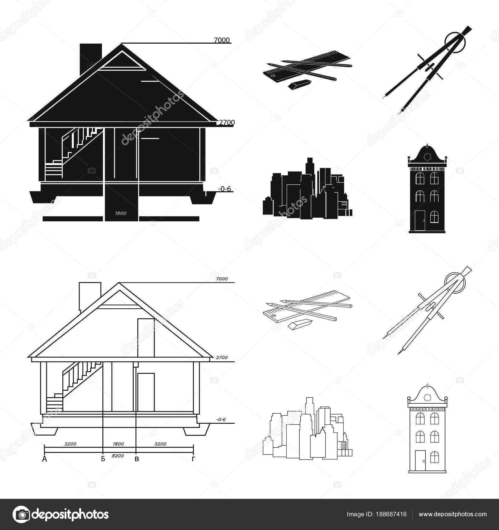 Drawing Accessories Metropolis House Model Architecture