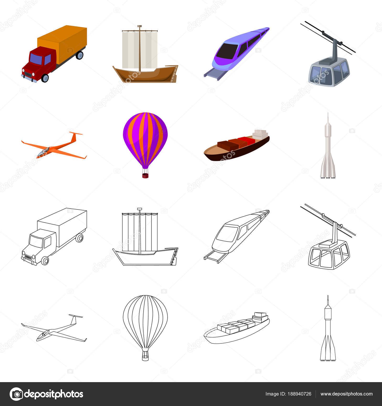 Un drone, un planeador, un globo, una barcaza de transporte, un ...