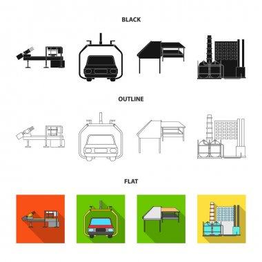 Automotive industry and other web icon in black,flat,outline style.New technologies icons in set collection.