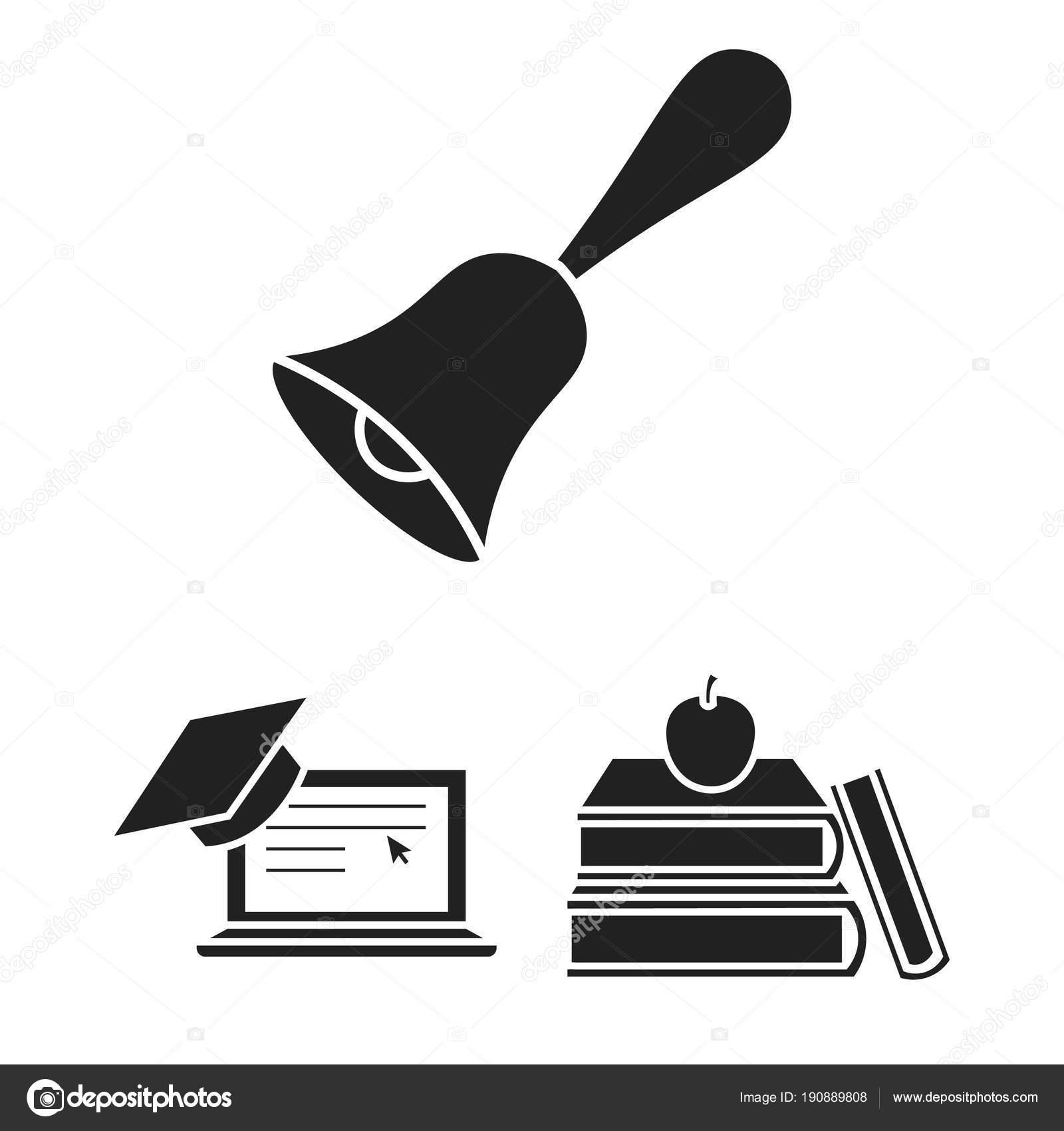 Schule Fã¼R Design | Schule Und Bildung Schwarze Symbole Im Set Sammlung Fur Design