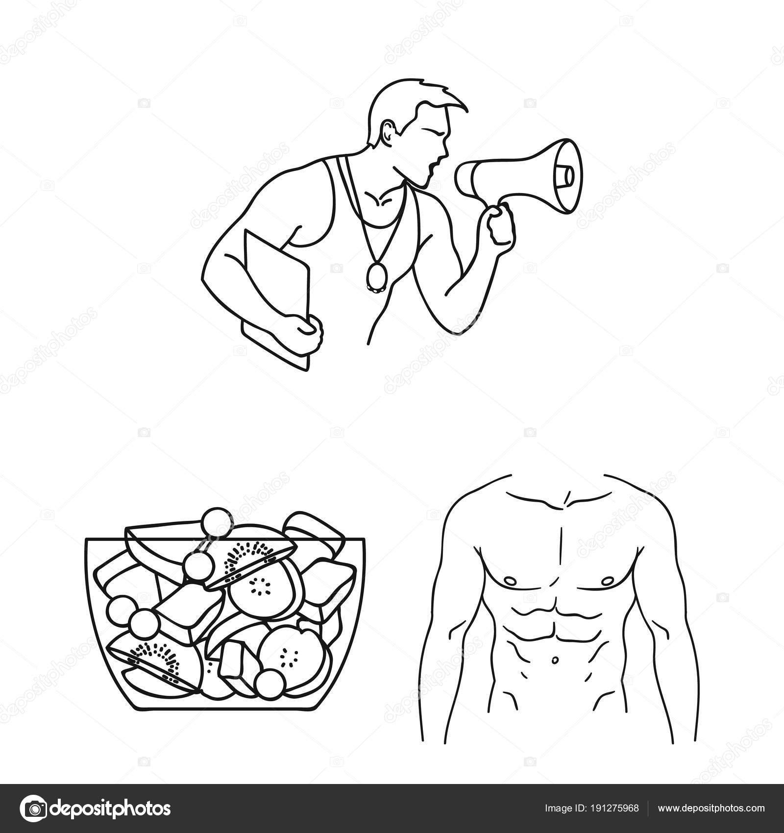 Dibujos Educacion Fisica Para Colorear Fitness Y Atributos Del