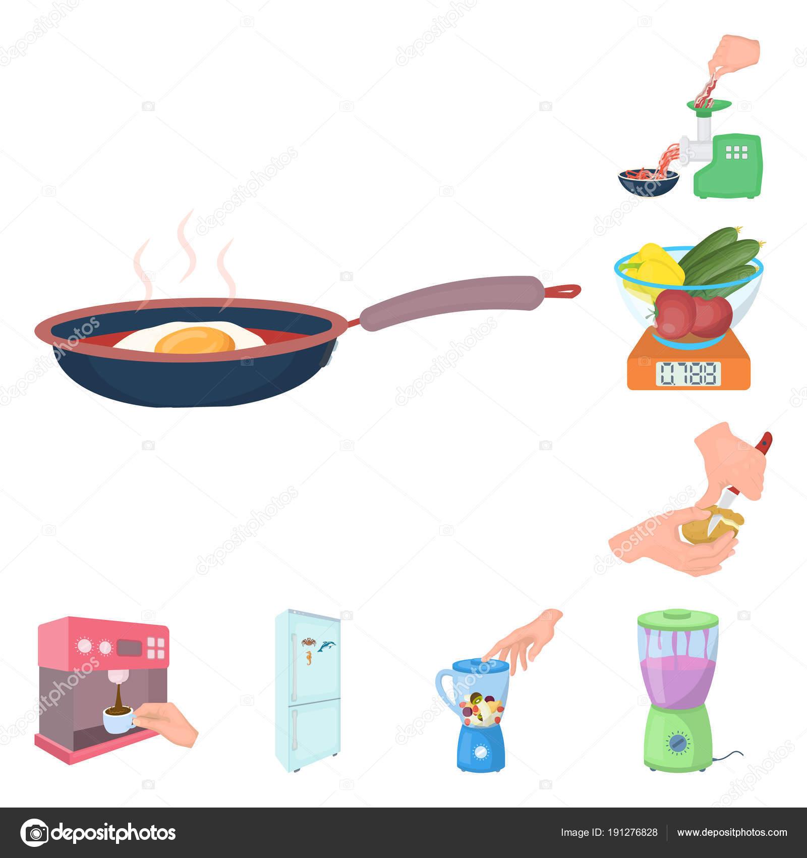 Cocina comida dibujos animados iconos de colección set de diseño ...