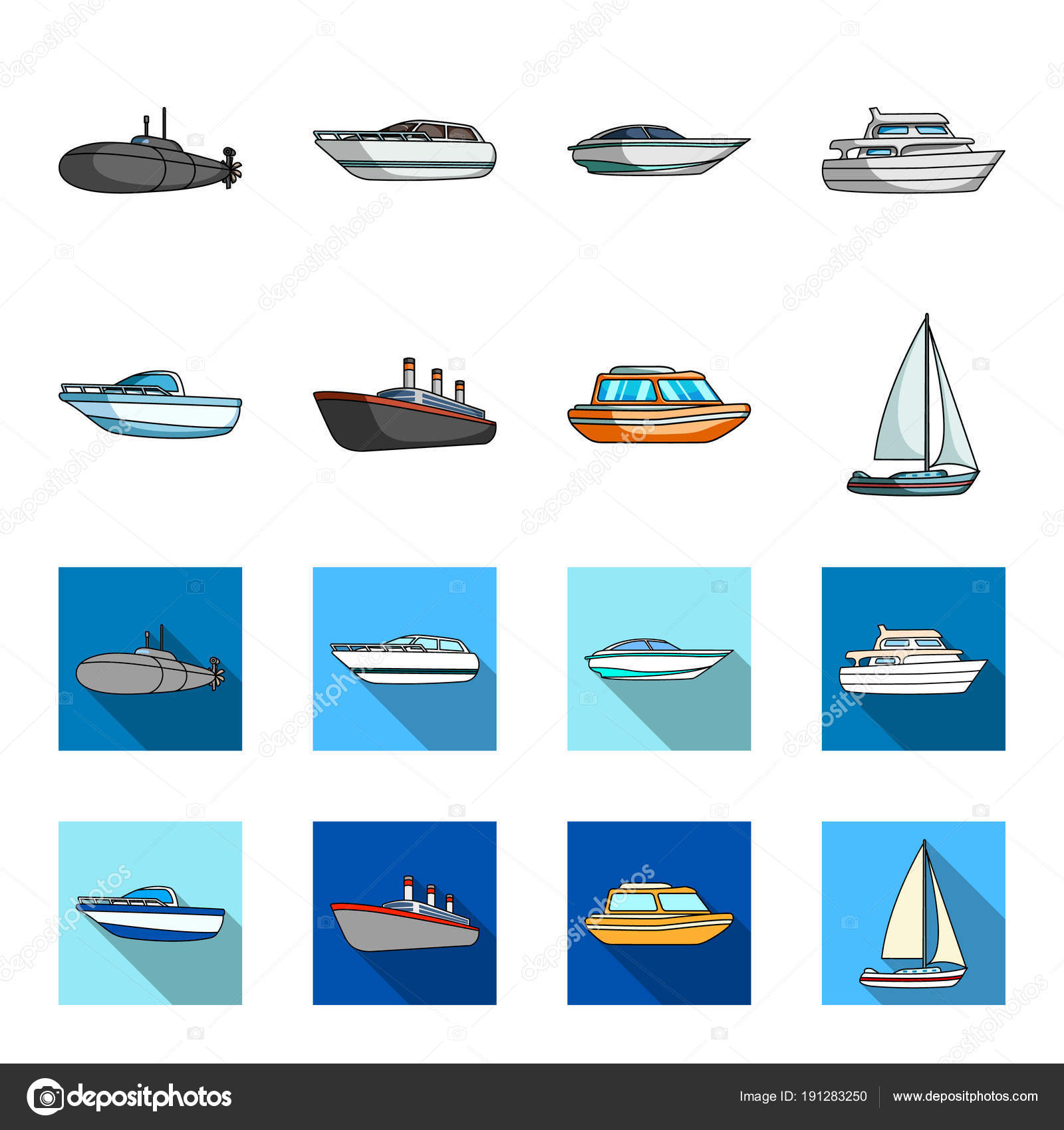 Dibujos Barcos Caricatura Bote De Protección Botes Salvavidas
