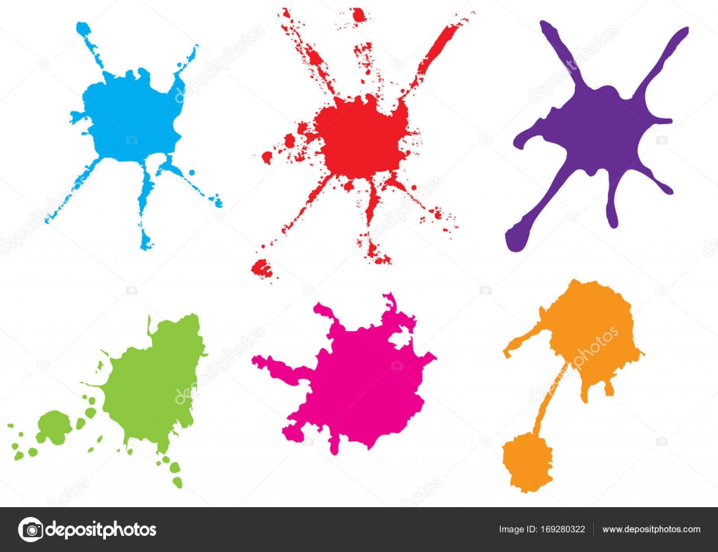 vector color paint splatter paint splatter set vector illustrat rh depositphotos com vector paint splatter brushes photoshop vector paint splatter brushes