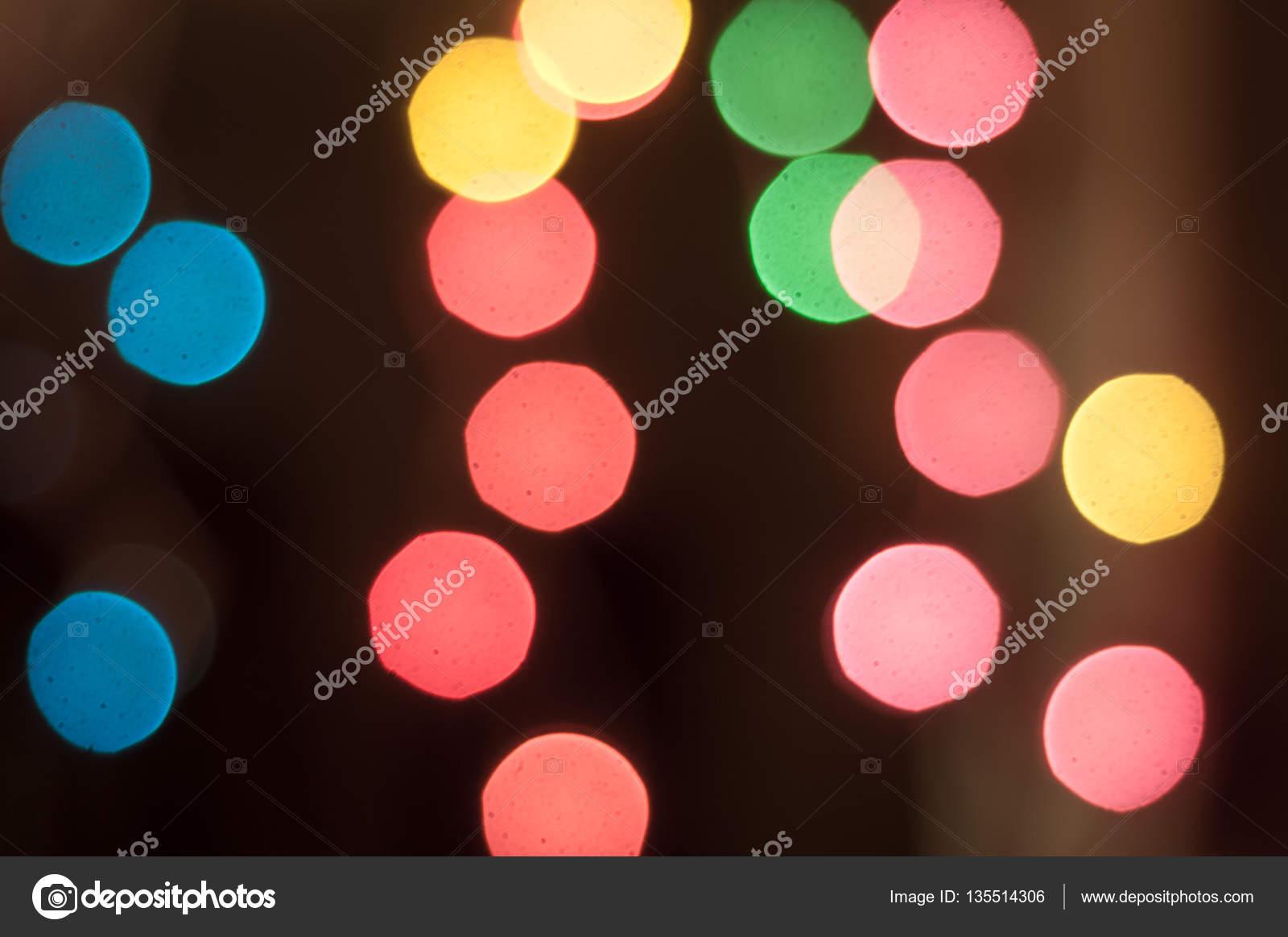 Dot Light Lampen : Bokeh buntes licht der led lampe in der nacht u2014 stockfoto