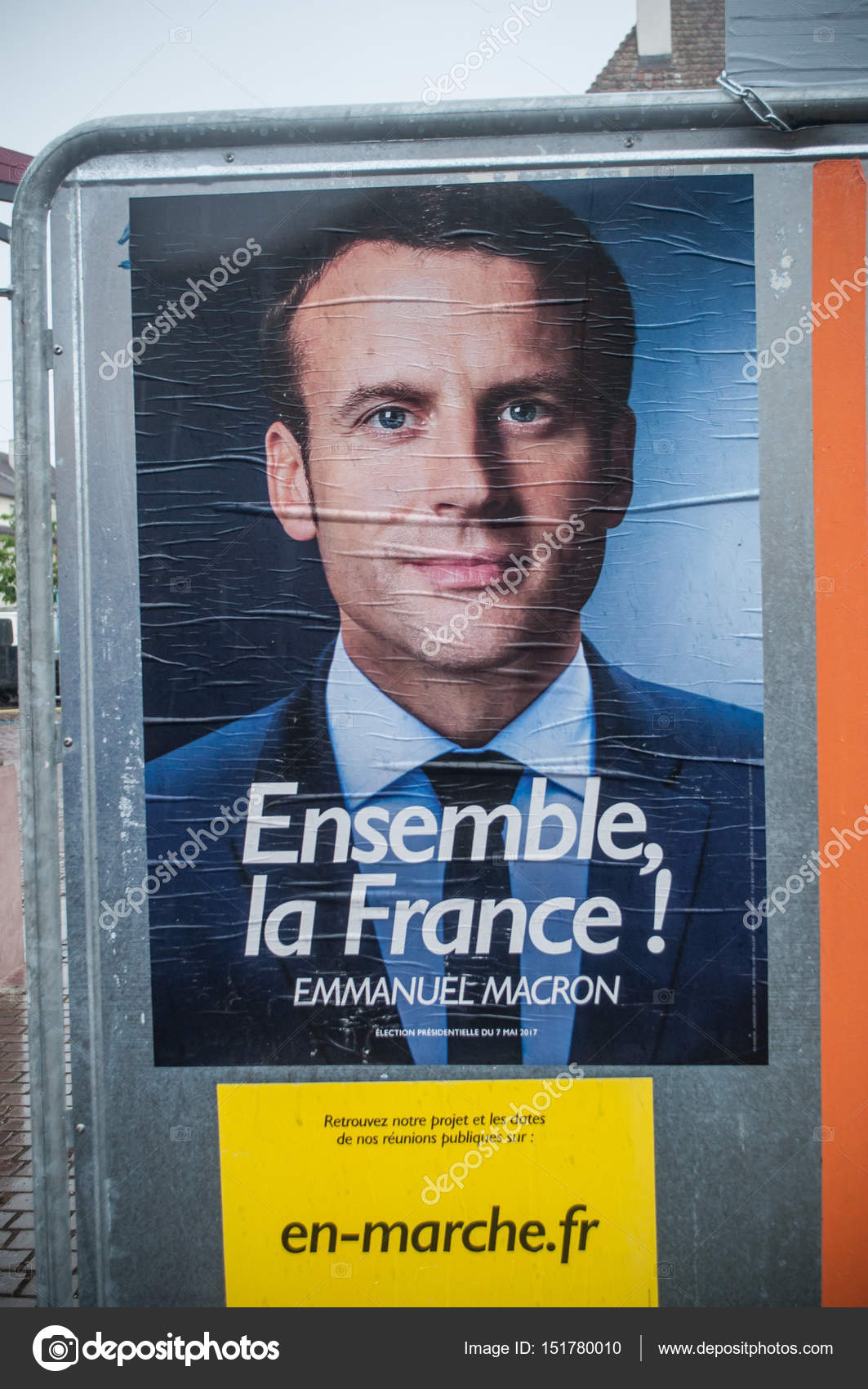 Emmanuel Macron Campaign Poster For The Second Round Of The 2017 French Presidential Election Stock Editorial Photo C Neydtstock 151780010