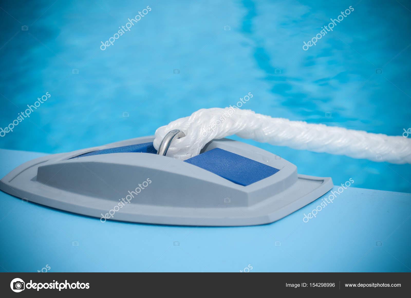 Rope on inflatable swimming pool — Stock Photo © NeydtStock ...