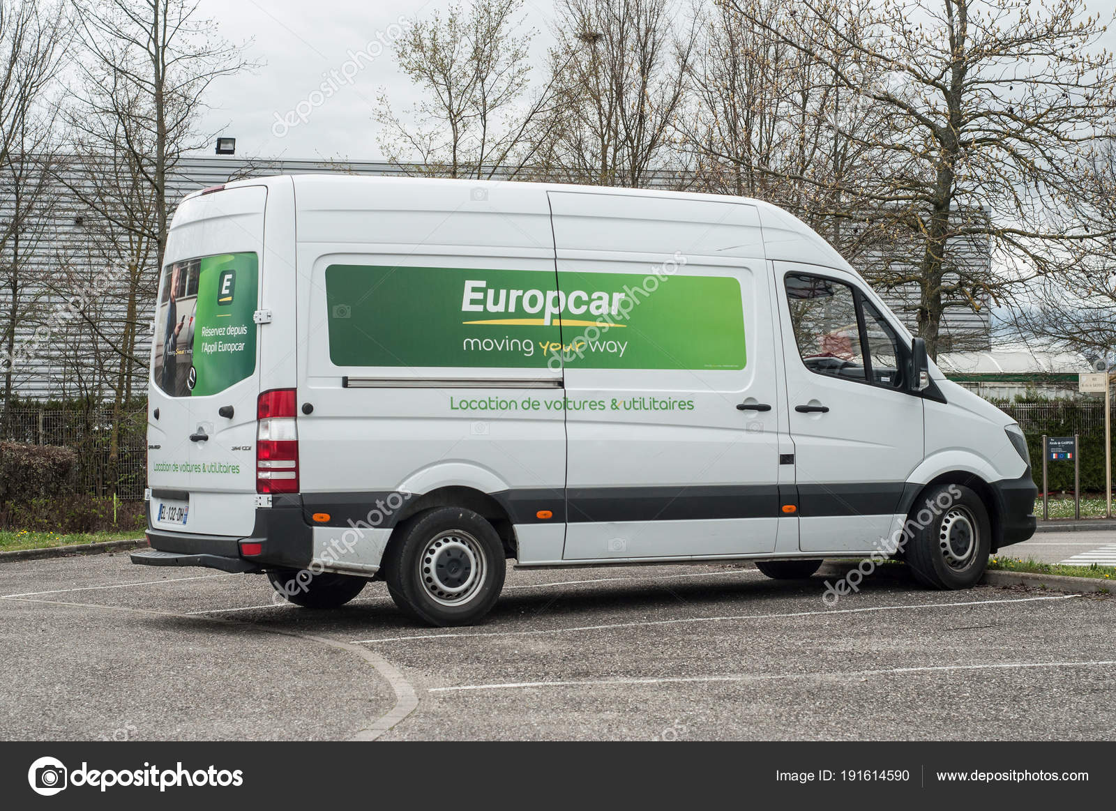 Europcar Truck Parked Europcar Is A Vehicle Rental Company With 365