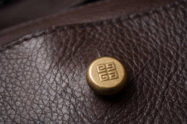 Givenchy logo on luxury leather handbag