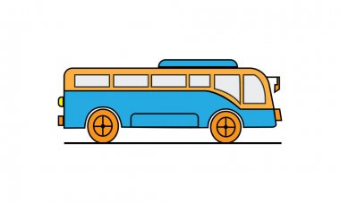Vector illustration of a tourism bus or travel bus design